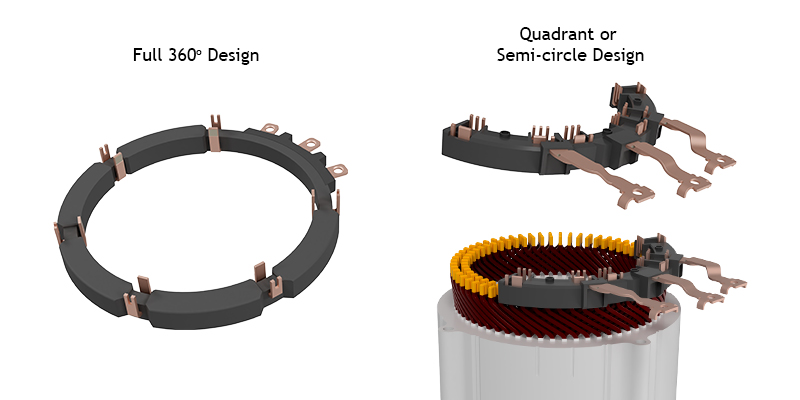 Multiphase-Stator-Busbars